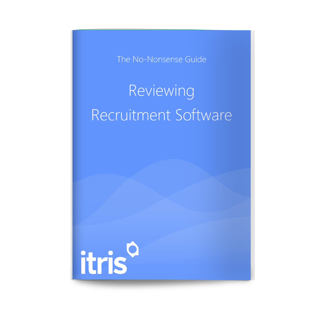 blue reviewing recruitment software front cover