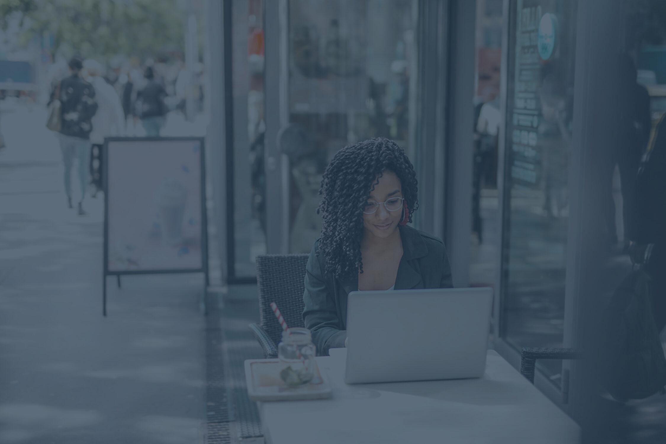 recruitment start up entrepreneur using laptop